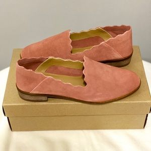 Lucky Brand light pink suade slip-on Chaslie Flats